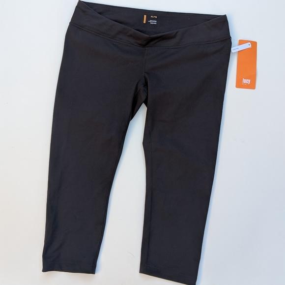 Lucy Pants - Maternity Pants XL Lucy Black Low Slung Capri New